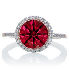ruby engagement rings 2 5 carat huge ruby and diamond halo classic engagement ring on