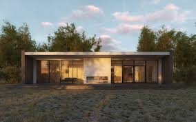 house architectural of scandinavian summer house 3d architectural
