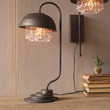 Iron Table Lamps Metal Table Lamp W Crystals Cll1232