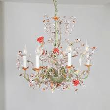 Industrial Crystal Chandelier Industrial Mechanical Gear Shaped 4 Light Chandelier