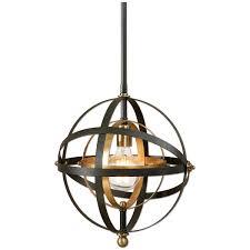 amazon com uttermost 22039 rondure 1 light sphere pendant mini