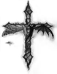 cool grey ink demon tattoo design demon tattoo designs