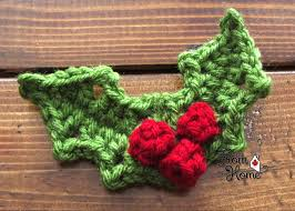 holly and berries from home crochet crochet pinterest
