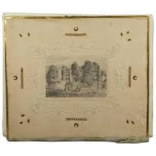 antique photo album antique folio album pencil drawing covers isle of white note paper