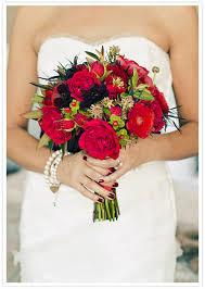 Red Wedding Bouquets Modern San Francisco Wedding Erin Stephan Real Weddings 100