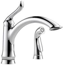 Kitchen Sink Faucets Amazon Com by Delta 4453 Dst Linden Single Handle Kitchen Faucet With Spray