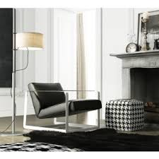 Black Accent Chair Nina Italian Leather Swivel Modern Accent Chairs Contemporary