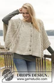 drops design poncho dove drops 150 12 free knitting patterns by drops design