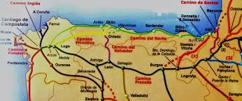 Camino Frances Map by Camino Del Norte 2014 Adventure June 2014