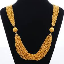 multi gold necklace images Glamorous lightweight multi strand gold chain necklace jpg