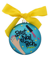 best nail tech personalized ornament