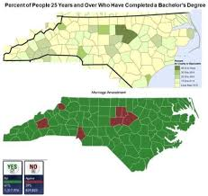 North Carolina Map Visualized A Closer Look At North Carolina U0027s Vote On Marriage