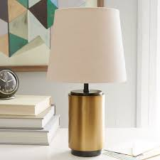Vintage Brass Table Lamps Small Pillar Table Lamp Antique Brass West Elm