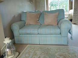 Laura Ashley Furniture by Laura Ashley Kendal 2 Seater Sofa Duck Egg Blue Corby Check In