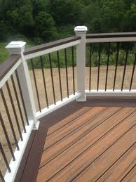 composite decks trex deck installation by professional