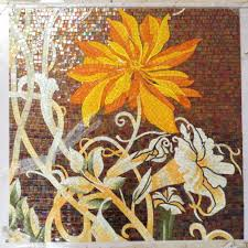 factory sale flowers glass mosaic cutting backsplash tile factory sale flowers glass mosaic cutting backsplash tile wall mural orange color sunflower aliexpress alibaba group