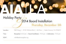 aia los angeles holiday party u0026 board installation