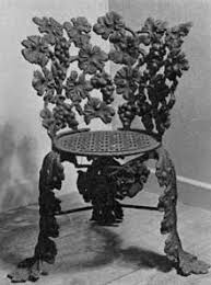 Vine Chair American Cast Iron Furniture Collectors Weekly