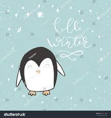 Penguin Home Decor Funny Penguin Hand Drawn Lettering Quote Stock Vector 551411386