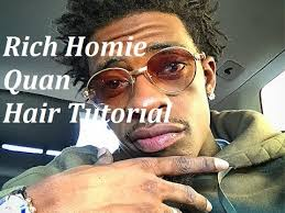 rich homie quan hair tutorial afro coil out youtube