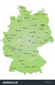 map of germany with states and capitals map of germany shows roads airports national capital major