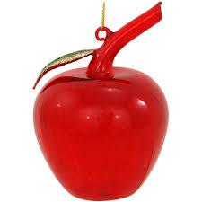 transparent glass apple ornament bronner s