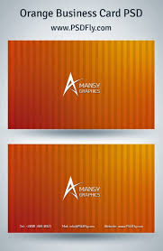 orange business card psd psd fly download free psd files