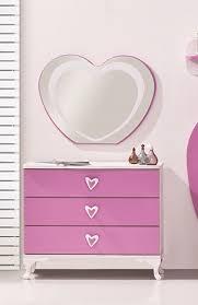 spiegel für kinderzimmer herz 7 teilig weiß pink