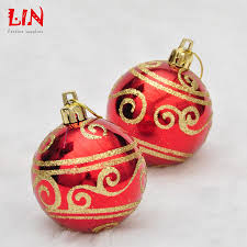 wholesale hanging christmas decoration 6cm bronzing light painting