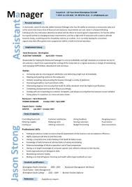 Restaurant Manager Resume Example by Cv Examples Purchase Ledger