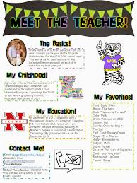 meet the teacher open house newsletter ideas