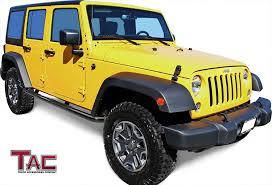 amazon com jeep wrangler jk amazon com tac side steps for 2007 2018 jeep wrangler jk 4 door 3
