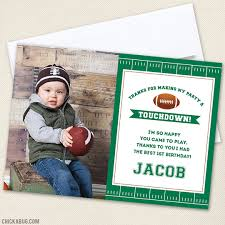 football party thank you cards