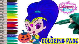 Halloween Pumpkin Coloring Page Shimmer And Shine Halloween Pumpkin Coloring Page Fun Coloring