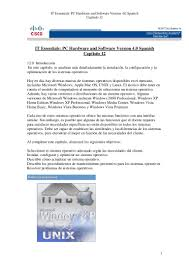 capitulo 12 it essentials pc hardware and software version 40 spanish