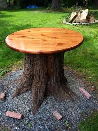 Pictures Of Tree Stump Decorating Ideas Cut Down A Tree U0026 Put A Table Top On The Stump Outdoor Table Do