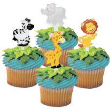 jungle theme cupcake toppers 28 pack cute zoo animal cupcake