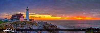 portland head light lighthouse cape elizabeth lighthouse panorama sunrise portland head light