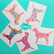 lilly pulitzer inspired labrador retriever vinyl decal newest