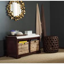 Entryway Storage Bench by Safavieh Freddy Cherry Storage Bench Amh5736e The Home Depot
