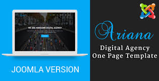 ariana digital agency one page joomla theme with page builder by