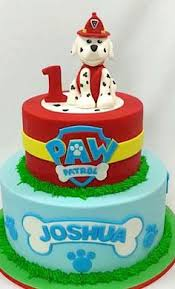 paw patrol cake hand sculpted edible chase marshall pink