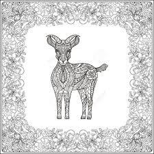 wildlife coloring book goat in floral frame coloring book for and older children