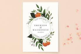 save the date post cards orange blossoms save the date cards by susan moyal minted