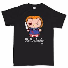 hello chucky horror kitty halloween party dress costume mask t shirt
