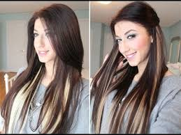 highlights underneath hair instant highlights with luxy hair extensions youtube