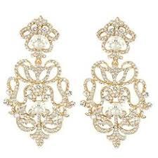 6 Beautiful Chandelier Earrings You Ever Faith Art Deco Elegant Braut Halskette Mit Ohrring