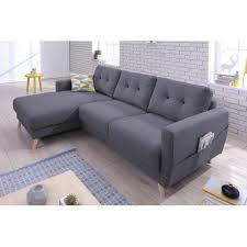 canapé d angle gris anthracite bobochic oslo canapé d angle gauche 225x147x86cm gris
