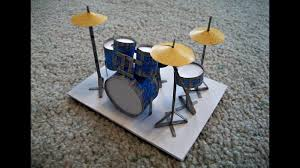 paper model of a drum set youtube