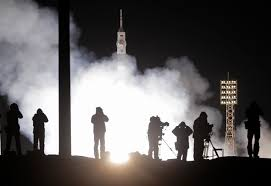rocket carrying crew of 3 blasts off for int u0027l space station